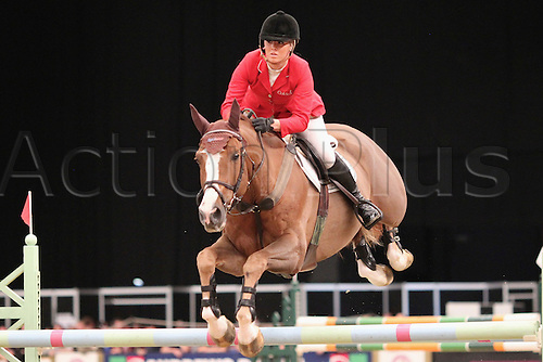10.10.2010 The Horse of the Year Show from the NEC in Birmingham. HOYS leading Showjumper of the year. Ellen Whitaker riding Ocolado