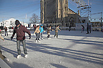 Open air ice skating, Norwich, Norfolk, England