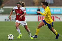 Danielle van de Donk of Arsenal Women and Lucy Staniforth of Birmingham City Women during Arsenal Women vs Birmingham City Ladies, FA Women's Super League Football at Meadow Park on 4th November 2018