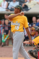 Chris Chaney, a local high school player, during the home run derby of the Triple-A All-Star Game at Fifth Third Field on July 10, 2006 in Toledo, Ohio.  (Mike Janes/Four Seam Images)