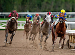 MAR 14: Charlatan and Drayden Van Dyke win an allowance race at Santa Anita Park in Arcadia, California on March 14, 2020. Evers/Eclipse Sportswire/CSM