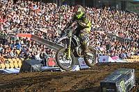 Madison Latta (NZ)<br /> 2018 SX Open - Auckland / SX 2<br /> FIM Oceania Supercross Championships<br /> Mt Smart Stadium / Auckland NZ<br /> Saturday Nov 24th 2018<br /> © Sport the library/ Jeff Crow / AME