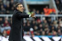 Swansea manager Carlos Carvalhal gives instructions from the touch line during the Premier League match between Newcastle United and Swansea City at St James' Park, Newcastle, England, UK. Saturday 13 January 2018