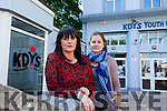 Tina Weber and Lorraine McIntyre from the KDYS in Tralee warning to people to be wary of bogus collectors who claim to be collecting money on behalf of the KDYS Youth Service.