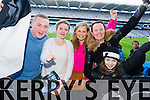 Daniel Brosnan, Serena Griffin, Trina Griffin, Sharon O'Sullivan, Lauren O'Sullivan,  Ardfert supporters at the Intermediate All Ireland Club Final in Croke Park on Saturday.