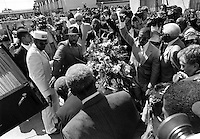 Funeral for Black Panther Huey Newton who was killed on the streets of Oakland. California.
