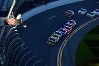 19-20 February, 2016, Daytona Beach, Florida USA<br /> Brendan Gaughan leads the field through the darkened tri-oval.<br /> ©2016, F. Peirce Williams