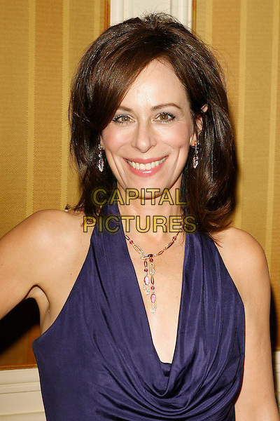 JANE KACZMAREK.The 10th Annual Costume Designers Guild Awards held at the Beverly Wilshire Hotel, Beverly Hills, California, USA..February 19th, 2008.headshot portrait purple cowel neck .CAP/ADM/ZL.© Zach Lipp/AdMedia/Capital Pictures.