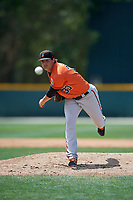 Baltimore Orioles pitcher Nick Vespi (30) delivers a pitch during a minor league Spring Training game against the Tampa Bay Rays on March 29, 2017 at the Buck O'Neil Baseball Complex in Sarasota, Florida.  (Mike Janes/Four Seam Images)