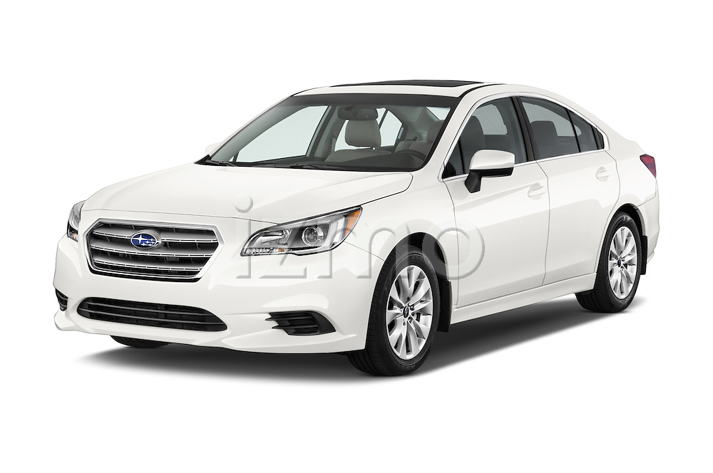2017 Subaru Legacy 2.5I Premium 4 Door Sedan 2WD Angular Front stock photos of front three quarter view