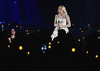 NASHVILLE, TN - NOVEMBER 8:  Carrie Underwood at the 51st Annual CMA Awards at the Bridgetone Arena on November 8, 2017 iin Nashville, Tennessee. (Photo by Scott Kirkland/PictureGroup)