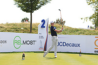 Gary Hurley (IRL) on the 2nd tee during Round 1 of the D+D Real Czech Masters at the Albatross Golf Resort, Prague, Czech Rep. 31/08/2017<br /> Picture: Golffile | Thos Caffrey<br /> <br /> <br /> All photo usage must carry mandatory copyright credit     (&copy; Golffile | Thos Caffrey)