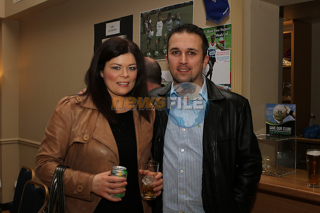 Caroline and Robbie Foster at the Fundraiser for East Meath United..(Photo credit should read Jenny Matthews/NEWSFILE)...