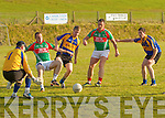 A loose ball in front of the Kenmare goal mouth gave the home side of Damien Kelly and Johnny Clifford a scoring chance but great defensive play by Kenmare's Kieran O'Neill coming in from the right cleared the danger.