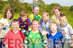 Enjoying themselves at the Cromane GAA funday on Sunday was front row l-r: James Teahan, Shane O'Shea, Michea?l McMahon. Back row: Catriona hayes, Neil Cronin, Rebecca Prendergast, Adain O'Sullivan, Tara Connor and Aaron O'Sullivan
