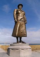 Standbeeld van Koningin Wilhelmina op de Boulevard in Noordwijk