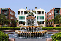 A downtown fountain in the historic district of Charleston, SC.