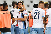 Marco Parolo of SS Lazio celebrates with team mates after scoring the goal of 1-2 during the Serie A football match between Torino FC and SS Lazio at stadio Olimpico in Turin ( Italy ), June 30th, 2020. Play resumes behind closed doors following the outbreak of the coronavirus disease. <br /> Photo Image Sport / Insidefoto