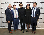 Harold Wolpert, Oliver Butler, Michael C. Hall, Paige Evans and Will Eno attend the Off-Broadway Opening Night of the Signature Theatre's 'Thom Pain' at the Signature Theatre on November 11, 2018 in New York City.