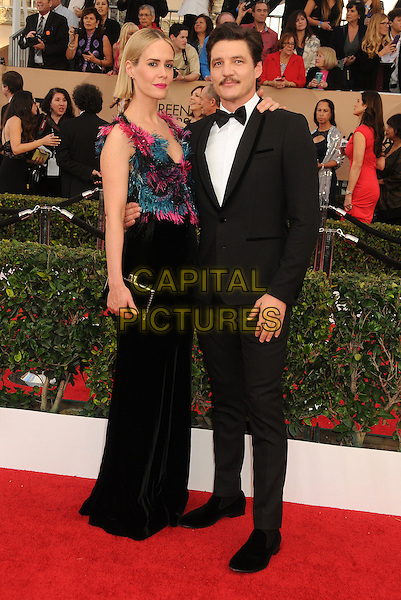 30 January 2016 - Los Angeles, California - Sarah Paulson, Pedro Pascal. 22nd Annual Screen Actors Guild Awards held at The Shrine Auditorium.      <br /> CAP/ADM/BP<br /> &copy;BP/ADM/Capital Pictures