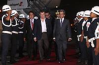 LIMA,PER&Uacute;-18/04/2013. Arribo del Presidente de Colombia, JUan Manuel Santos, para la reuni&oacute;n UNASUR en Palacio de Gobierno. <br /> &copy;ANDINA/OscarFarje/NortePhoto