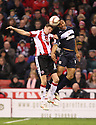 Darius Charles of Stevenage and Chris Porter of Sheffield United contest a header.  Sheffield United v Stevenage - npower League 1 -  Bramall Lane, Sheffield - 17th November, 2012. © Kevin Coleman 2012