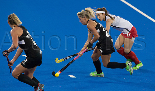 07.04.2016. Unison Hockey Turf, Hastings, New Zealand. Festival of Hockey New Zealand versus Korea. New Zealand's Gemma Flynn in action.