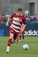 FC Dallas forward Kenny Cooper (33) leds his team down the field in their come from behind defeat of Real Salt Lake. Real Salt Lake vs FC Dallas at Pizza Hut Park Frisco, Texas May-24-2008 Final Score 1-2