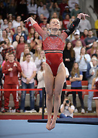 Arkansas' Bailey Lovett competes Friday, Feb. 7, 2020, in the portion of the Razorbacks' meet with Georgia in Barnhill Arena in Fayetteville. Visit  nwaonline.com/gymbacks/ for a gallery from the meet.<br /> (NWA Democrat-Gazette/Andy Shupe)