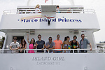 Eddie Alderson, Melissa Archer, Kristen Alderson, Chad Duell, Jeff Branson, John Driscoll, Kelly Thiebaud, Bryan Craig, Tom Pelphrey  donated their time at 15th Southwest Florida Soapfest 2014 Charity Weekend - at Cruisin' and Schmoozin' on May 25, 2104 aboard the Marco Island Princess (boat), Marco Island, Florida.  (Photo by Sue Coflin/Max Photos)