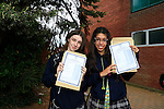 Fiona Kelly and Barbara Geada<br /> who collected there Junior cert results<br /> Picture Fran Caffrey www.newsfile.ie