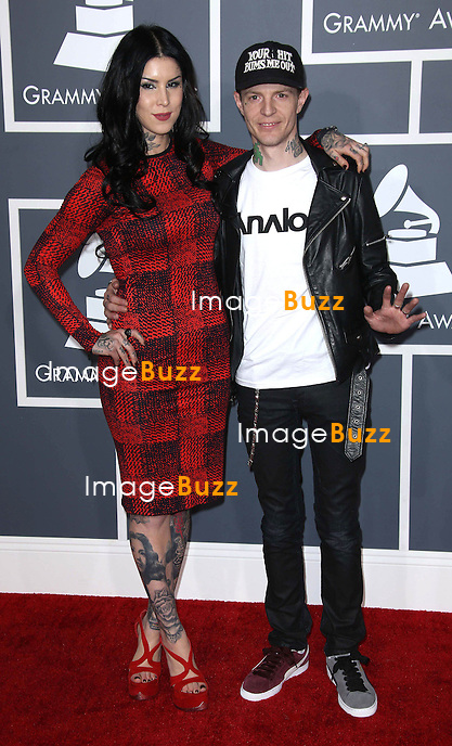 Kat Von D, Deadmau 5    at the 55th Grammy Awards-Arrivals  held at the Los Angeles Convention Center.