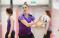 07.10.2017 Silver Ferns Te Paea Selby-Rickit in action during the Silver Ferns training in Christchurch. Mandatory Photo Credit ©Michael Bradley.