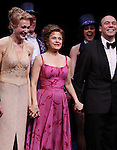 Jan Maxwell, Bernadette Peters & Danny Burstein.during the Broadway Opening Night Curtain Call for 'Follies'  in New York City.