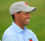 Tiger Woods at the USA Team presentation for the 2010 Ryder Cup at the Celtic Manor Twenty Ten Course, Newport, Wales, 28th September 2010..(Picture Eoin Clarke/www.golffile.ie)