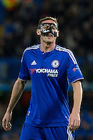 Nemanja Matic of Chelsea during the UEFA Champions League group G match between Chelsea and FC Porto at Stamford Bridge, London, England on 9 December 2015. Photo by Andy Rowland.