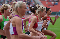 Competitors compete in the women's 1500m competition during the Istvan Gyulai Memorial Hungarian Athletics Grand Prix 2011, in the Ferenc Puskas Stadium in Budapest, Hungary on July 30, 2011. ATTILA VOLGYI