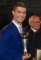 Zurigo 09-01-2017 FIFA Football Awards - Cristiano Ronaldo (POR), player of the year, men, during the Best FIFA Football Awards 2016 in Zurich<br /> Foto Steffen Schmidt/freshfocus/Insidefoto