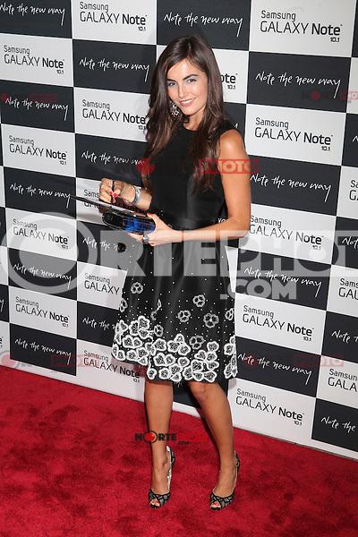 Camilla Belle attends the Samsung Galaxy Note 10.1 Launch Event in New York City, August 15, 2012. ©Diego Corredor/MediaPunch Inc. /NortePhoto.com<br /> <br /> **CREDITO*OBLIGATORIO** *No*Venta*A*Terceros*<br /> *No*Sale*So*third* ***No*Se*Permite*Hacer*Archivo***No*Sale*So*third*
