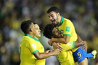 29th October 2019; Bezerrao Stadium, Brasilia, Distrito Federal, Brazil; FIFA U-17 World Cup Brazil 2019, Brazil versus New Zealand; Talles Magno of Brazil celebrates his goal with Daniel Cabral in the 80th minute, 2-0