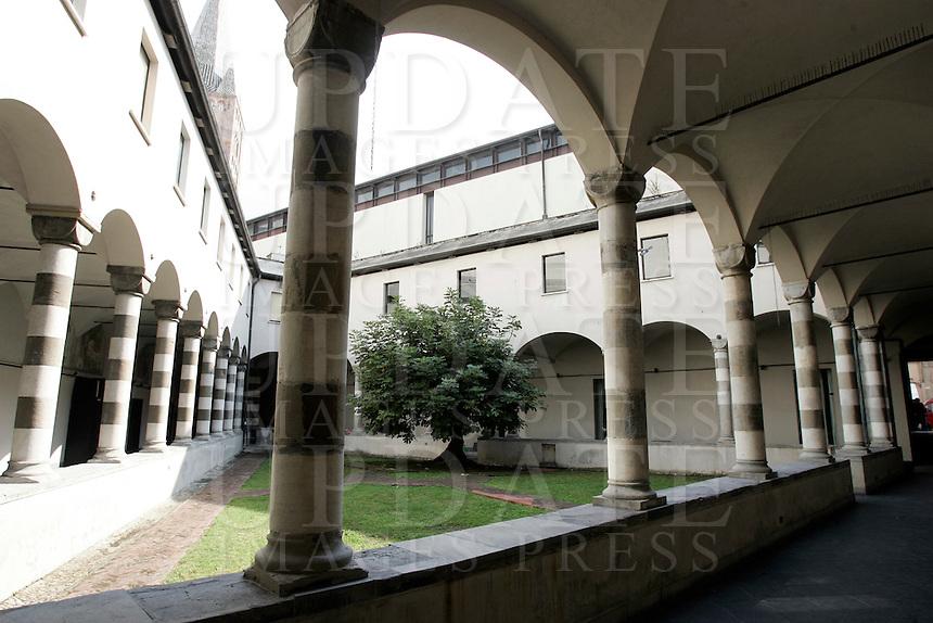 Il chiostro della chiesa di Sant'Agostino a Genova.<br /> The cloister of the church of Sant'Agostino in Genoa.<br /> UPDATE IMAGES PRESS/Riccardo De Luca
