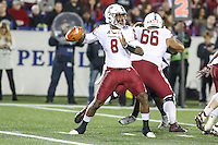 Annapolis, MD - December 27, 2016: Temple Owls quarterback Phillip Walker (8) attempts a pass during game between Temple and Wake Forest at  Navy-Marine Corps Memorial Stadium in Annapolis, MD.   (Photo by Elliott Brown/Media Images International)