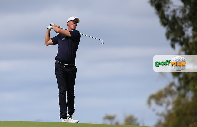 Richard Green (AUS) on the 18th during Round 3 of the ISPS HANDA Perth International at the Lake Karrinyup Country Club on Saturday 25th October 2014.<br /> Picture:  Thos Caffrey / www.golffile.ie