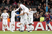 Paris Saint-Germain's players celebrate goal during Champions League 2014/2015 match.December 10,2014. (ALTERPHOTOS/Acero) /NortePhoto