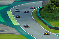 17th November 2019; Autodromo Jose Carlos Pace, Sao Paulo, Brazil; Formula One Brazil Grand Prix, Race Day; Daniel Ricciardo (AUS) Renault Sport F1 Team RS19 and Pierre Gasly (FRA) Red Bull Racing RB15 - Editorial Use
