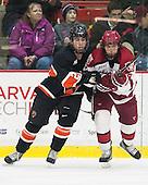 Aaron Ave (Princeton - 28), Luke Esposito (Harvard - 9) - The Harvard University Crimson defeated the Princeton University Tigers 3-2 on Friday, January 31, 2014, at the Bright-Landry Hockey Center in Cambridge, Massachusetts.