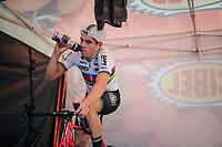 Elite Men CX World Champion Wout van Aert (BEL/Cibel-Cebon) warming up<br /> <br /> GP Mario De Clercq / Hotond cross 2018 (Ronse, BEL)<br /> photo ©kramon