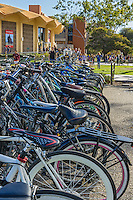 Bikes parked at Campbell Hall, UCSB