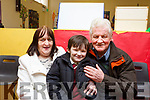 Attending the Moyderwell Grandparents day on Thursday morning last, Phil and Davie Barrett with their grandson Ciane Barrett-Duggan
