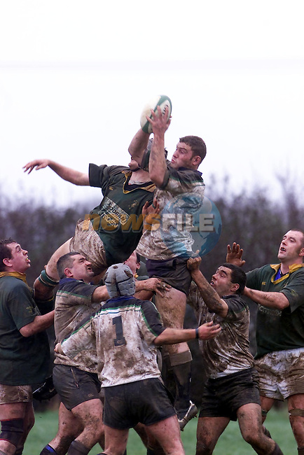 Seapoint win the throw in against Boyne RFC in Bryanstown...Picture Fran Caffrey Newsfile.